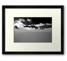 winter scene Framed Print