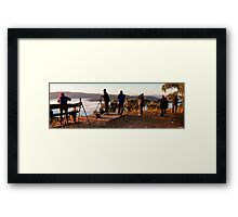 Some of the culprits ... RedBubble Rumble Hill End Easter 2011 Framed Print