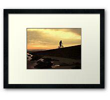 Rider on the shore Framed Print