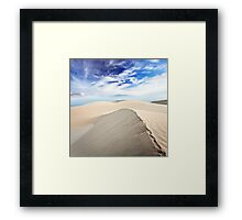 Beautiful sandy desert at day time Framed Print