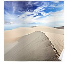 Beautiful sandy desert at day time Poster