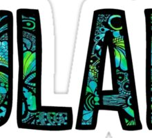 Tulane Tie Dye Doodle Sticker