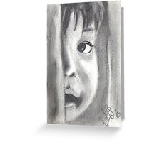 Child look Greeting Card