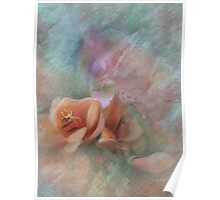Peach Freesia Poster