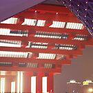 Chinese Pavillion in purple by Rene Fuller