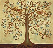 'Tree of Life' Acrylic Painting by Lisa Frances Judd~QuirkyHappyArt