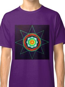 Hand-painted mandala/compass design Classic T-Shirt