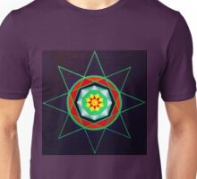 Hand-painted mandala/compass design Unisex T-Shirt