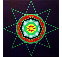 Hand-painted mandala/compass design Photographic Print