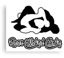 Rear Naked Choke Black Mixed Martial Arts  Canvas Print
