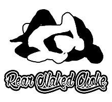 Rear Naked Choke Black Mixed Martial Arts  Photographic Print