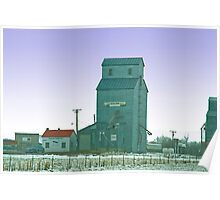Grain Elevator, Ryegate, Montana Poster