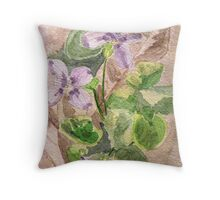 Woodland Violets Throw Pillow
