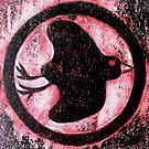 """Black Bird Symbol - Cardboard Etching by Belinda """"BillyLee"""" NYE (Printmaker)"""