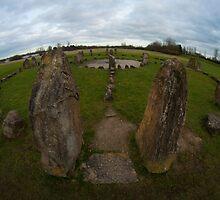 Stone circle at Willen Lake, Milton Keynes by David Isaacson