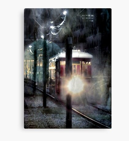 Street Car In New Orleans Canvas Print