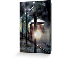 Street Car In New Orleans Greeting Card