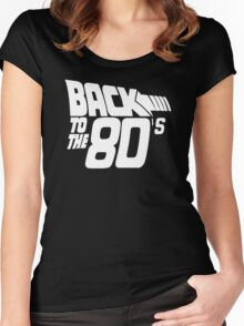 Back to the 80's, Funny Retro Women's Fitted Scoop T-Shirt