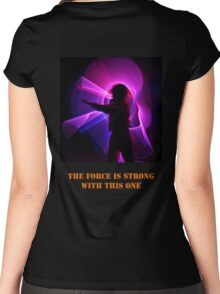 The Force is Strong with this one Women's Fitted Scoop T-Shirt