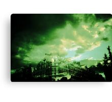 Green sky from paris Canvas Print