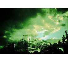 Green sky from paris Photographic Print