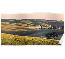 Palouse farm at sunset Poster