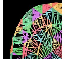 Take a Ride on the Ferris Wheel Photographic Print