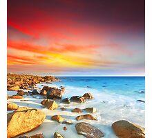 Sunrise over the sea Photographic Print
