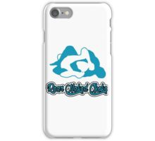 Rear Naked Choke Mixed Martial Arts Blue  iPhone Case/Skin