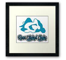 Rear Naked Choke Mixed Martial Arts Blue  Framed Print
