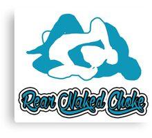 Rear Naked Choke Mixed Martial Arts Blue  Canvas Print
