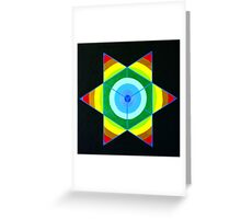 Hand-painted mandala/compass design Greeting Card