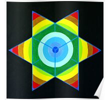 Hand-painted mandala/compass design Poster