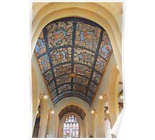 The Angel Ceiling, Muchelney, Somerset Poster