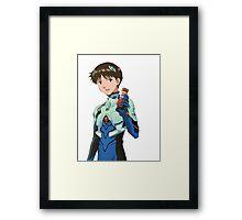 SHINJI IKARI - NEON GENESIS EVANGELION - STICKER Framed Print