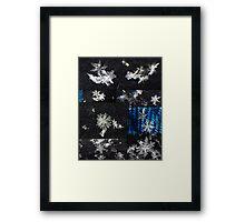 Macro Snowflakes Framed Print