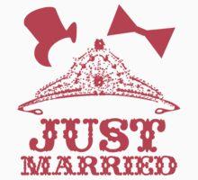 Just Married Princess Bride Top Hat Groom by SaMack