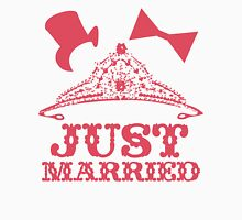 Just Married Princess Bride Top Hat Groom Womens Fitted T-Shirt
