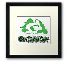 Rear Naked Choke Mixed Martial Arts Green 2 Framed Print