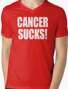 Cancer Sucks Disease Mens V-Neck T-Shirt