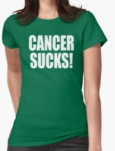 Cancer Sucks Disease Womens Fitted T-Shirt