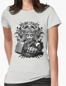 Thor Looking Dude with Hammer Womens Fitted T-Shirt