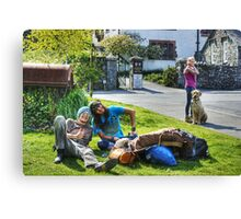 The Hawkshead Busker's Audience Canvas Print