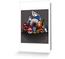 Anime Monsters Greeting Card