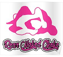 Rear Naked Choke Mixed Martial Arts Pink 2 Poster