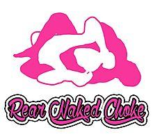 Rear Naked Choke Mixed Martial Arts Pink 2 Photographic Print