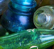 Colored Glass Bucket by Christi Doolittle