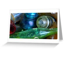 Colored Glass Bucket Greeting Card