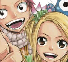 natsu, lucy and happy Sticker