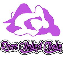 Rear Naked Choke Mixed Martial Arts Purple 2 by yin888